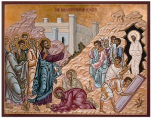 Christ wept at the death of his friend, Lazarus. However, we all await resurrection.