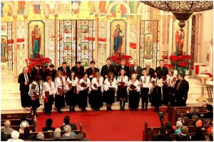 """The Irmos Choir performing at the """"Concert of Carols"""" in 2009"""